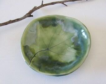 Woodland Leaf Bowl Stoneware Clay