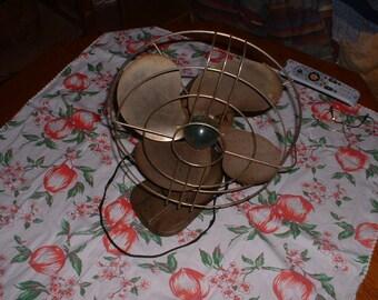 Vintage Polar Chil Metal Fan A,C. Gilbert Oscillating Works Reduced Sale
