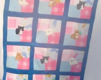 Cats in the Cradle Fleece Blanket/Quilt