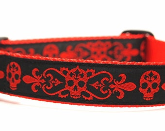 Fleur De Skulls - Dog Collar