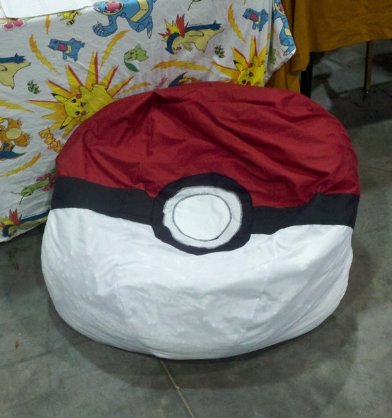 Pokeball Bean Bag Chair Cover