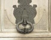 Paris Photography - Grey Door in Paris France - Paris Fine Art Photograph, Shabby Chic Decor