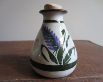 Antique English Torquay Pottery Lavender Scent bottle