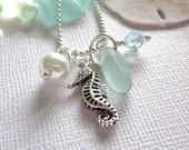 Seaglass Seahorse Necklace Seaside