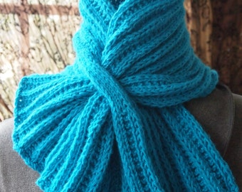 Knitting Pattern For Small Neck Scarf : Knit keyhole scarf Etsy