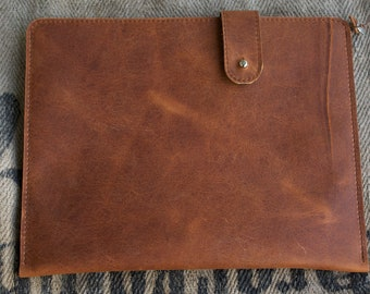 Kindle Fire HD 10 leather sleeve - RUM DIARY (Organic Leather)