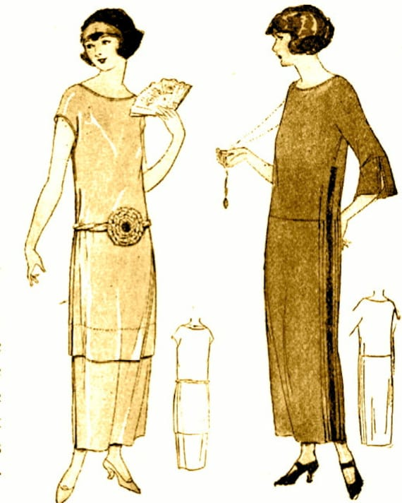 Instant download vintage 1920s downton abbey flapper dress for Wedding dress patterns free download