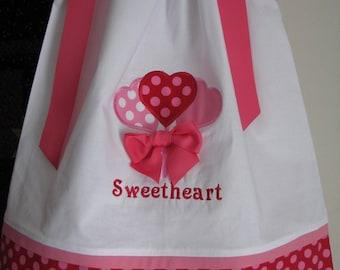valentine heart pillowcase dress