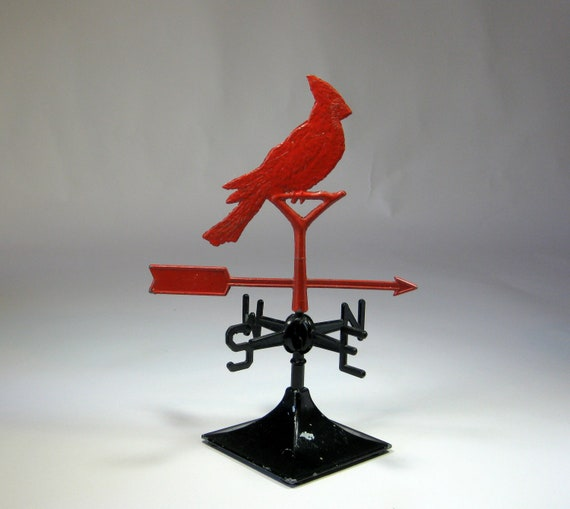 Red Cardinal Weather Vane Small Decorative Red And Black