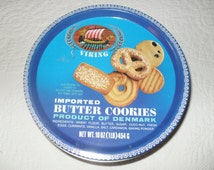 Tin 20 - Vintage 80s Shortbread Blue Cookie Tin