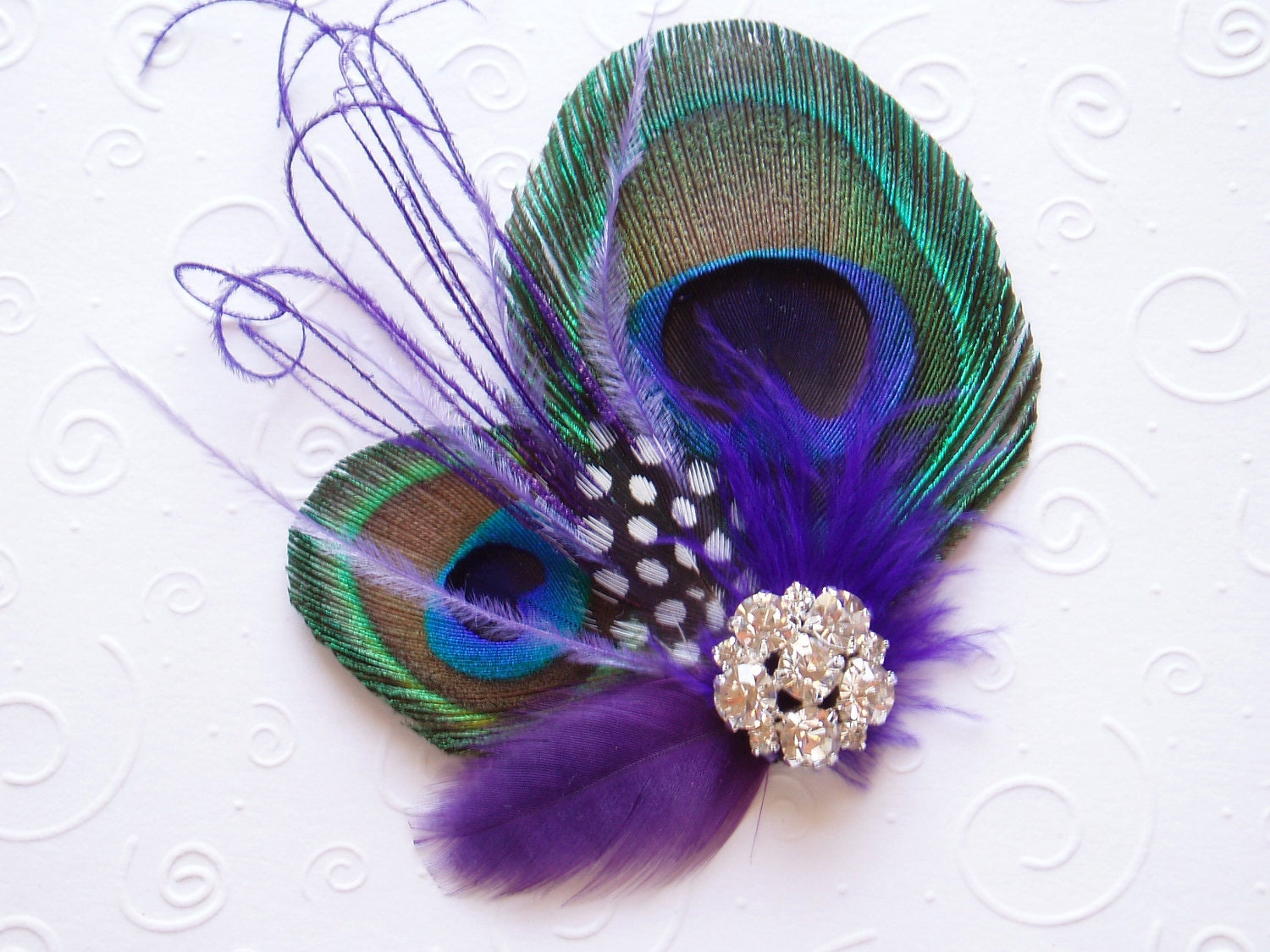 Wedding Hair Accessories Peacock Bridal Fascinator Feather