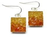 Mosaic Jewelry - Amber Drop Earrings - Custom Order