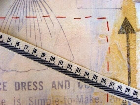 1 Yard Measuring Tape Twill Ribbon Trim