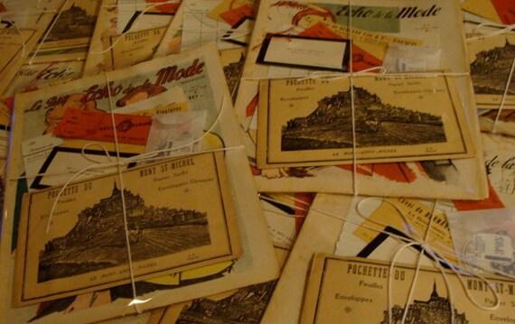 Antique French Magazine and  Ephemera Bundle Last One