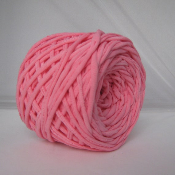 T-Shirt Yarn Hand Dyed- Light Pink- 60 Yards
