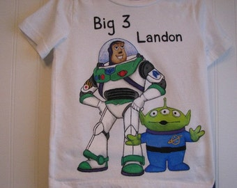 Custom Painted Disney Toy story, or Phineas and Ferb  Birthday Shirt Tshirt Sizes 18 mo,  to 2T,3,4,5,6,7,8,9,10