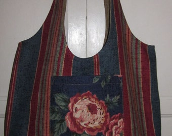 Patchwork of tapestries HOBO BAG reversible and washable