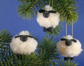 Lamb/Sheep Ornaments/ Set of Three Sheep/Lambs/