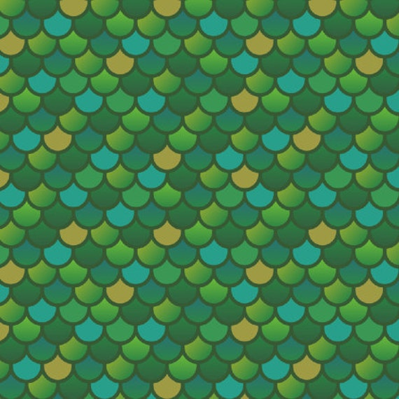 Mermaid fish scales in green fabric 1 yard pre order for Fish scale fabric