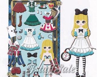 Qlia Dolly Dolly dress-up doll sticker sheet  Alice