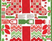 FALL SALE - Joy by Kate Spain for Moda Fabrics -  Stocking Panel in Snow  - SKU  27121 11