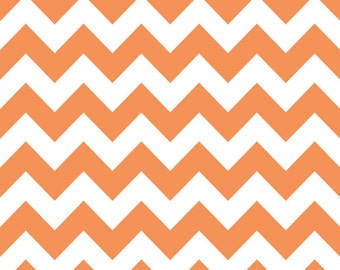 SPRING SALE - Medium Chevron Stripe in Orange - C320-60 - 1 Yard - Riley Blake Designs