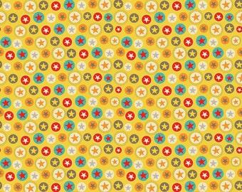 SUMMER SALE - Boy Crazy - Stars in Yellow - sku C3333 - 1 Yard - by Dani Mogstad and My Minds Eye for Riley Blake Designs
