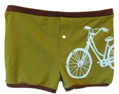 Bicycle Boxer Shorts Green and Brown