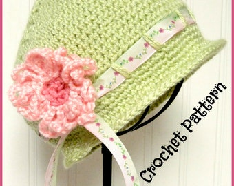 Crochet Pattern Little Girl's Hat and Bag Child 3-10