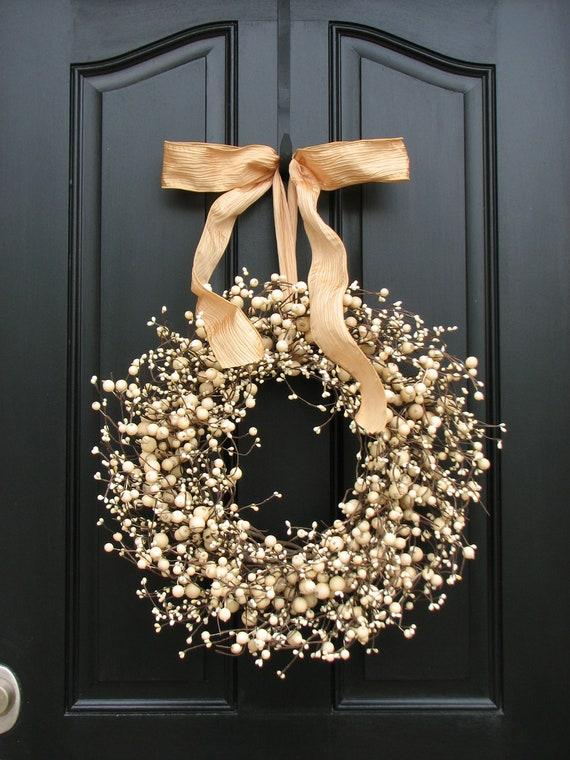 Wedding Wreath - Wreath - Champagne - Year Round Wreath