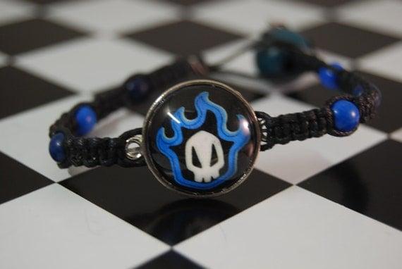 Skull in Flames Bleach Bracelet