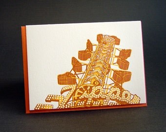Zipper Carnival Letterpress Card