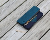 la mer waxed canvas foldover clutch leather fringe tie rustic wedding