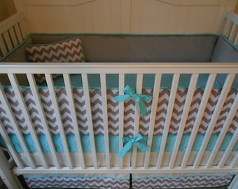 Chevron Custom Crib Bedding