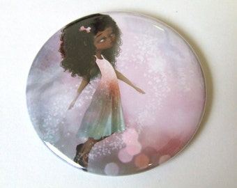 Surrender II Pocket Mirror Made From Original Art Print With Organza Bag 2 1/4 inches