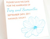 100 Save the Dates or Invitations with my Paper Flower Design