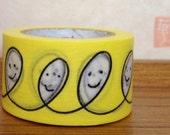 mt  washi masking tape - smile -  designer mt x mina perhonen - yellow
