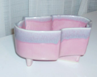 Small Pink and Lavender Cookson Pottery Planter