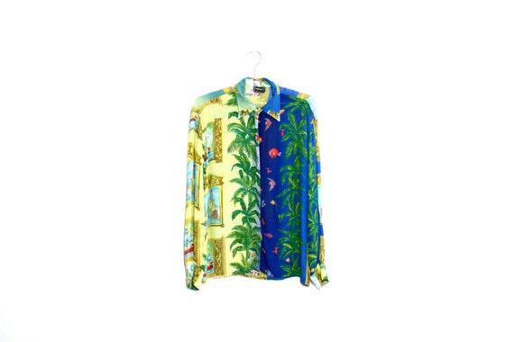 Versace Sheer Scarf Print Blouse