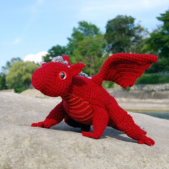Amigurumi Pattern Dragon Free : PDF Crochet Pattern Baby Dragon Amigurumi