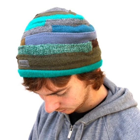 Green Wool and Knit Beanie Size L Adult On Sale