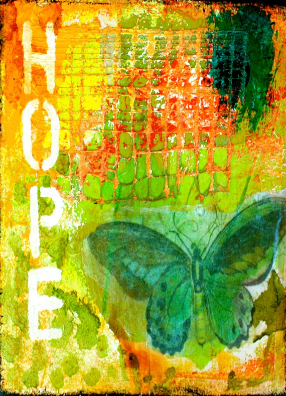 """Hope 5""""x7"""" Blank Greeting Card with Envelope, Butterfly Card, All Occasion Card, Wholesale Greeting Cards, Stationery Products"""