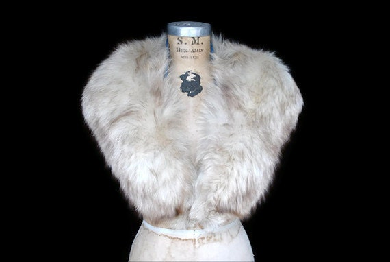 Vintage Fox Fur Collar / Large