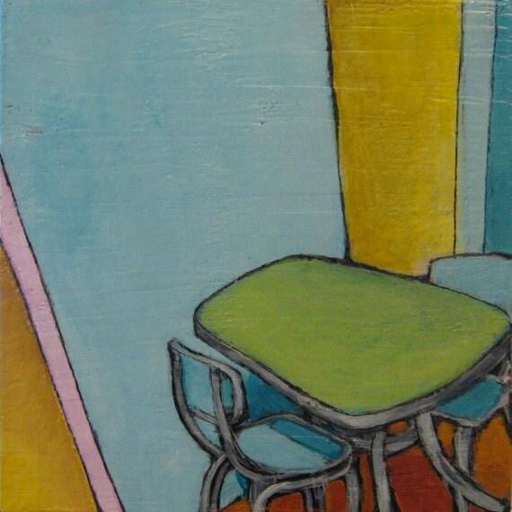 Their Talking Table - Original Painting