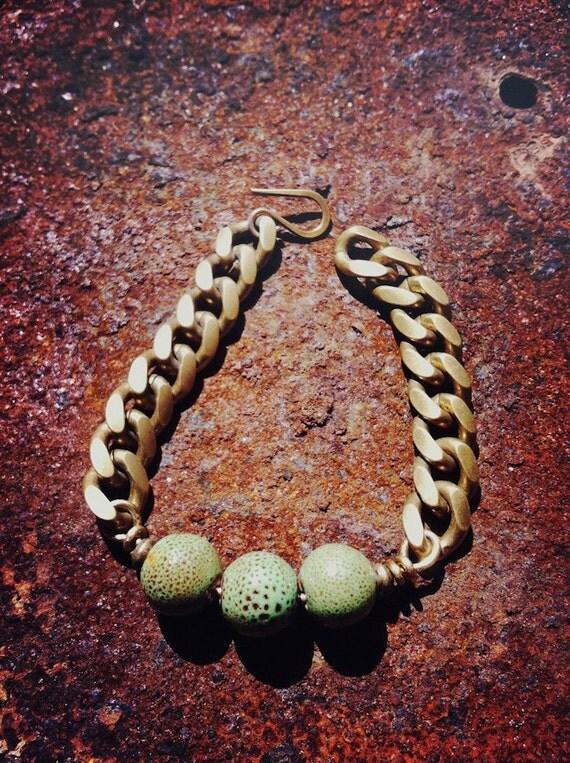 Three Speckled Beads Bracelet