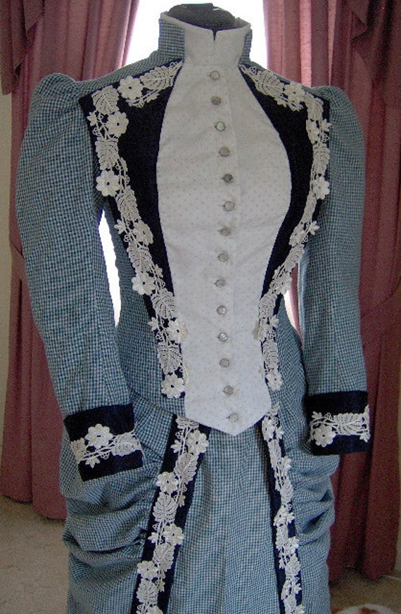 FOR ORDERS ONLY Custom Made 1800s Victorian Gown 1880s