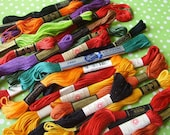 Vintage Embroidery Floss Thread Lot Bright Colors