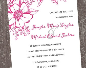 Pink Floral Invitations For Any Occasion