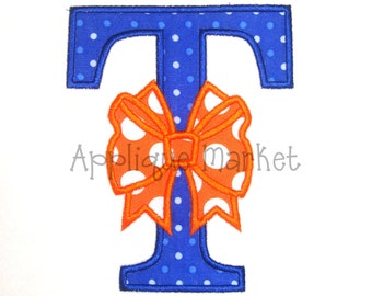Machine Embroidery Design Applique T Bow