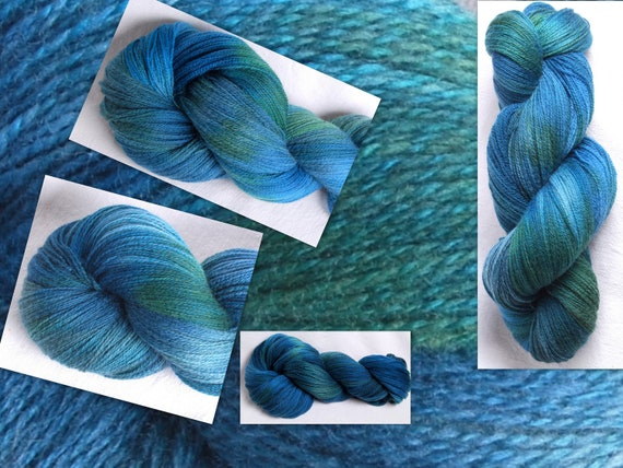 Queensland Merino Hand dyed Lambswool  2ply Laceweight Yarn 100g